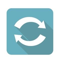 Square exchange icon vector image