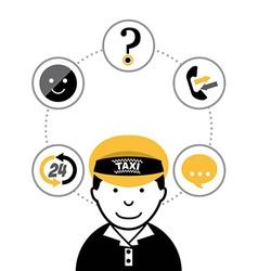 taxi service public design vector image