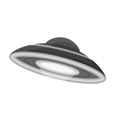 Ufo icon in monochrome style isolated on white vector