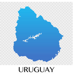 Uruguay map in south america continent design vector