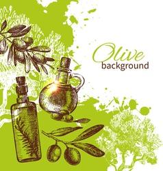 Vintage olive background vector image vector image