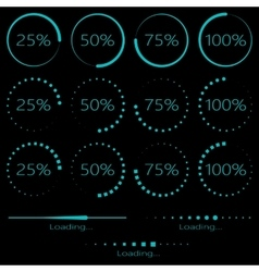 Preloaders and progress bar vector image