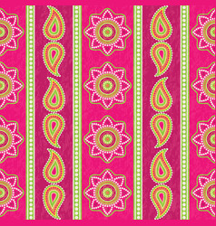 ethnic striped pattern with paisley vector image