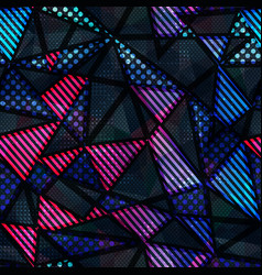 Spectrum color triangle seamless pattern vector