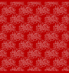 holiday semless pattern with hand lettering all vector image