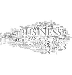 Why i should go in to business text word cloud vector