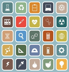 Science flat icons on blue background vector