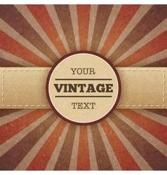 Vintage sunburst promo poster vector image