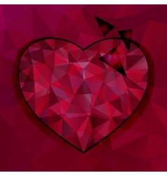 triangles heart background vector image