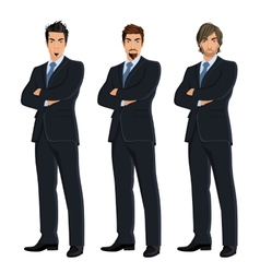 Set of business men vector