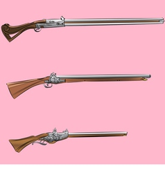 Antique gun vector