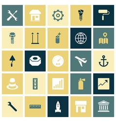 Flat design icons for industrial vector image