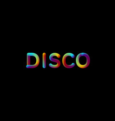 3d iridescent gradient disco sign vector image vector image