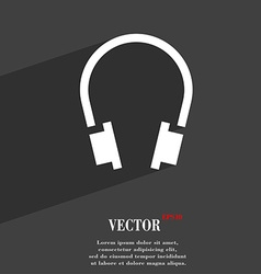 Headsets icon symbol flat modern web design with vector