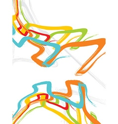 Multicolor abstraction in style graffiti vector