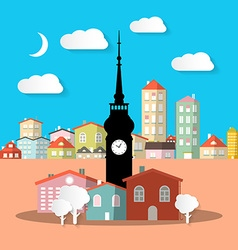 City - Town Abstract Urban Landscape with Houses vector image