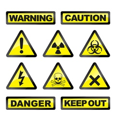Danger industry icons vector