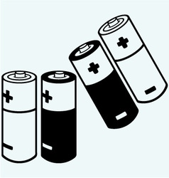 Symbol batteries vector image