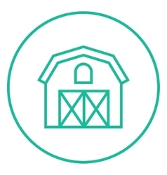 Farm building line icon vector