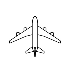 Black plane outline vector