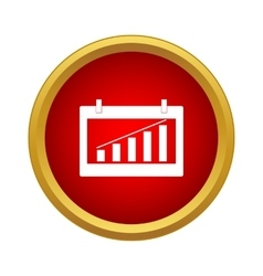 Chart icon simple style vector