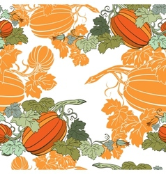 Pumpkin background seamless pattern vector