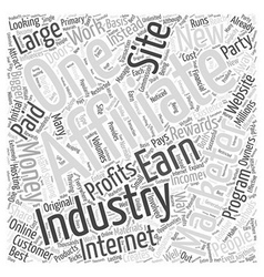 Affiliate marketing internet industry word cloud vector