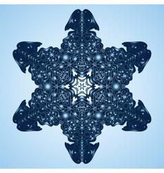 Beautiful Blue Snowflake vector image vector image