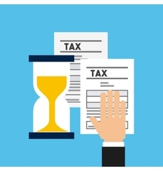 business and tax design vector image