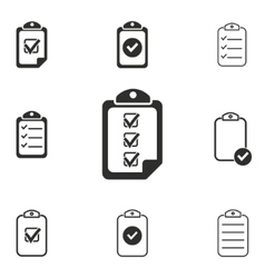 Clipboard icon set vector
