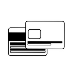 Credit card electronic commerce icon vector