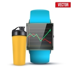 Design example sport wrist smartwatch vector