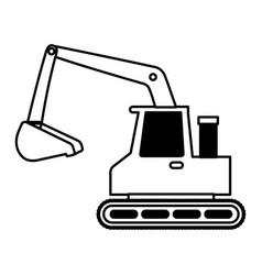 excavator machine isolated icon vector image
