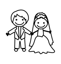 figure married couple icon vector image vector image