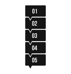 Five steps infographic icon simple style vector
