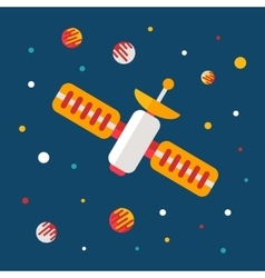 Flat outer space poster vector