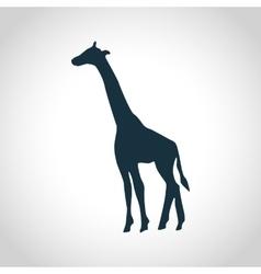 Giraffe black silhouette vector image