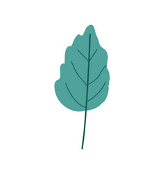 Green light color of small wavy leaf plant vector