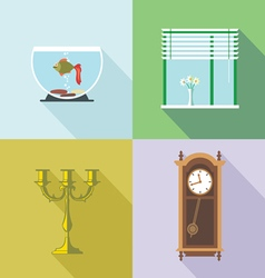 Home decorations set Digital image vector image vector image