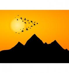 jamb of cranes vector image