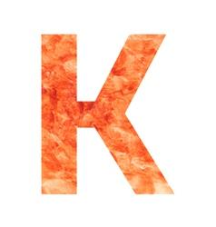 K land letter vector