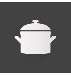 Kitchen pan icon vector