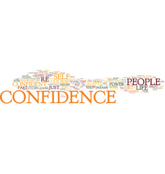 Maximum confidence text background word cloud vector