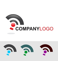 Modern logo and icon set vector image