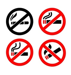 No smoking icons vector image