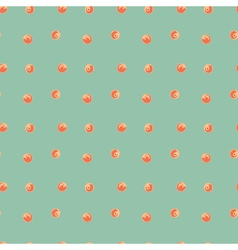 Peaches seamless pattern Green peach background vector image vector image