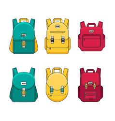 Schoolbag flat bag for school vector