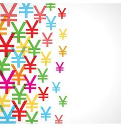 Seamless pattern background of yen symbols vector