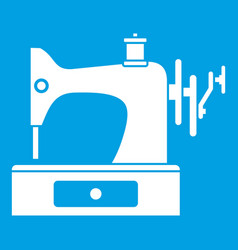 sewing machine icon white vector image