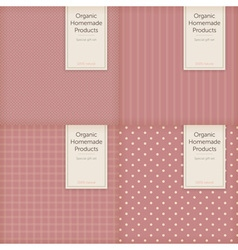 simple label template for box or package or card vector image